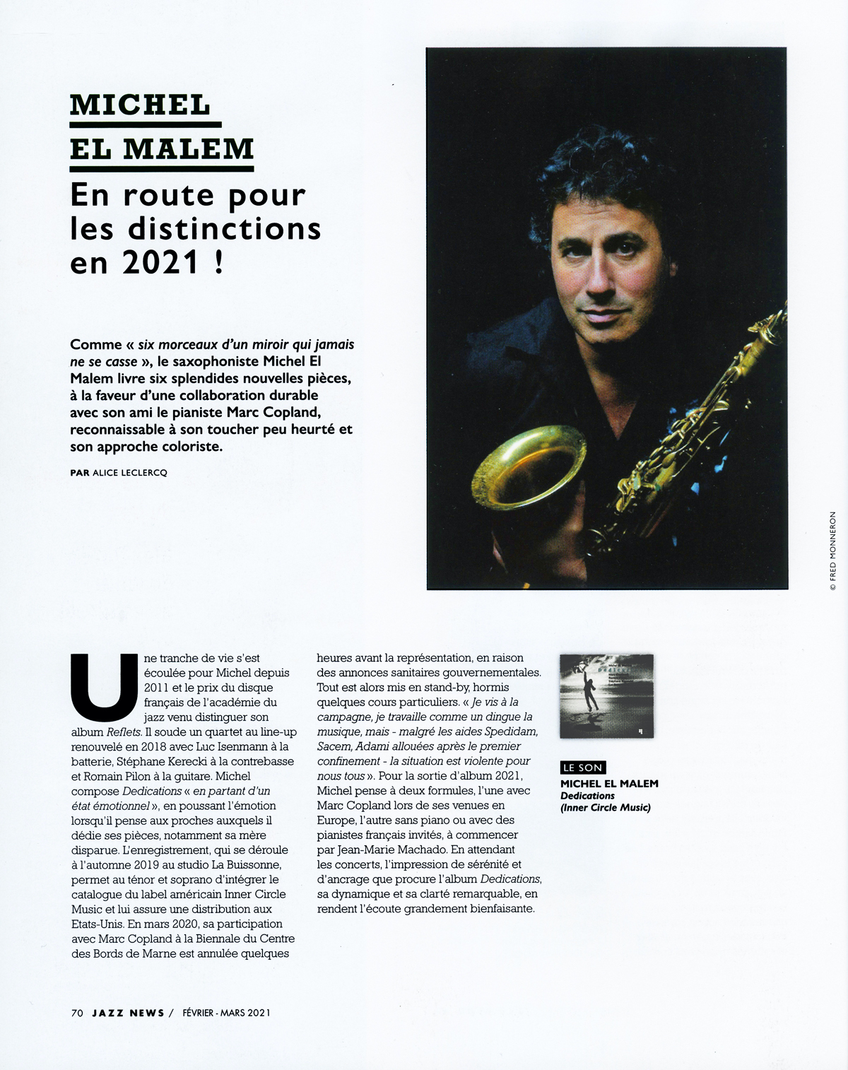 Dedications Jazz News Article