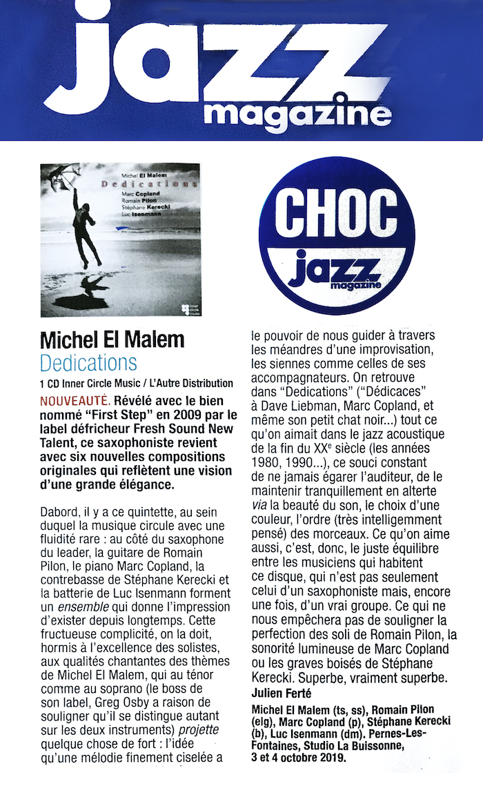 Dedications Jazz Magazine